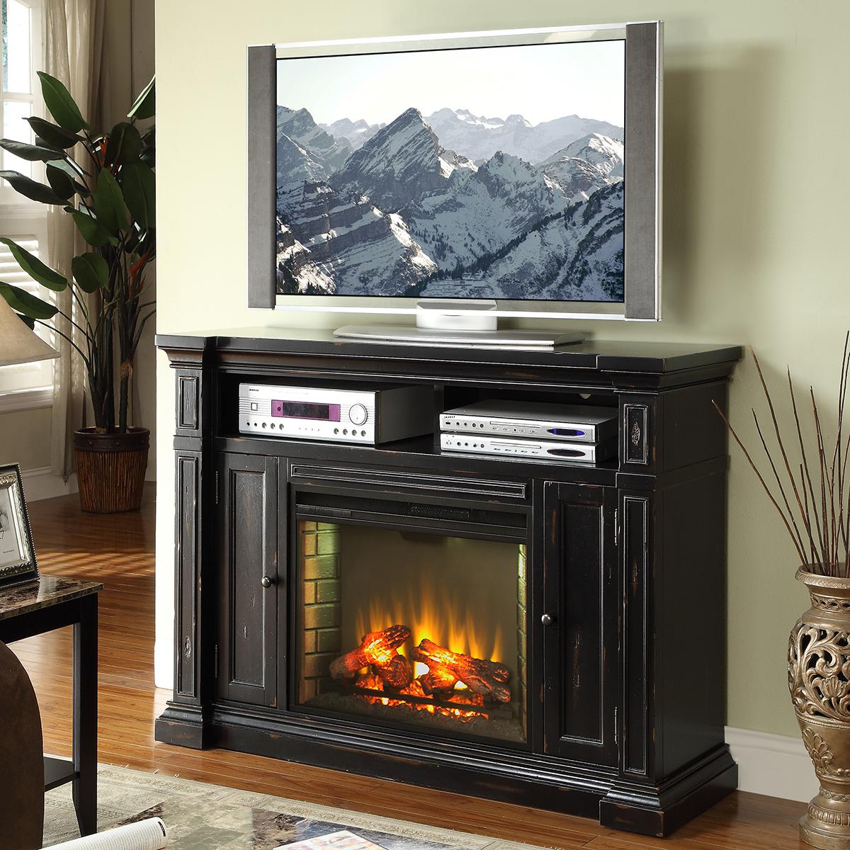 Legends Furniture Zman 1900 Manchester 58 Inch Fireplace Media