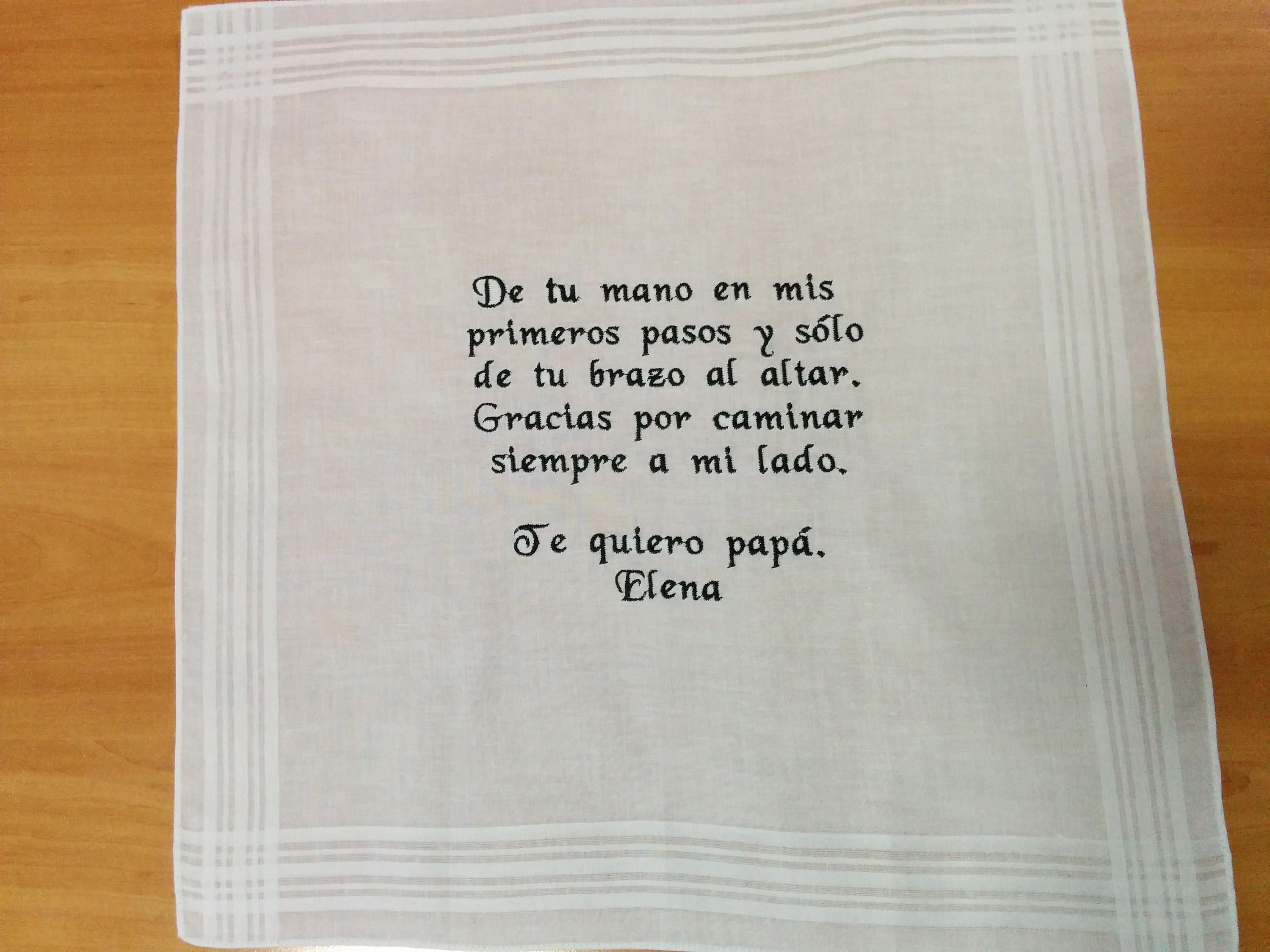 Embroidered handkerchief, wedding gift, Father Gift, father-in-law ...