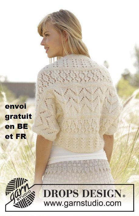7e07b7588 Bolero women knitted wool mohair and silk by lamainlefil on Etsy ...