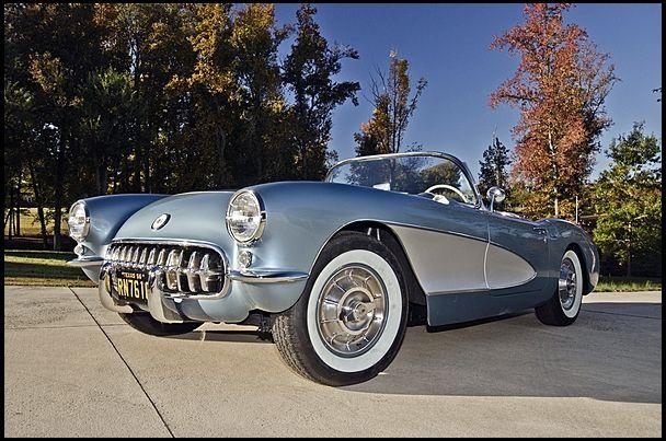 SOLD SOLD SOLD $61,000 F150 1956 Chevrolet Corvette Convertible 265 CI, 3-Speed #MecumKC
