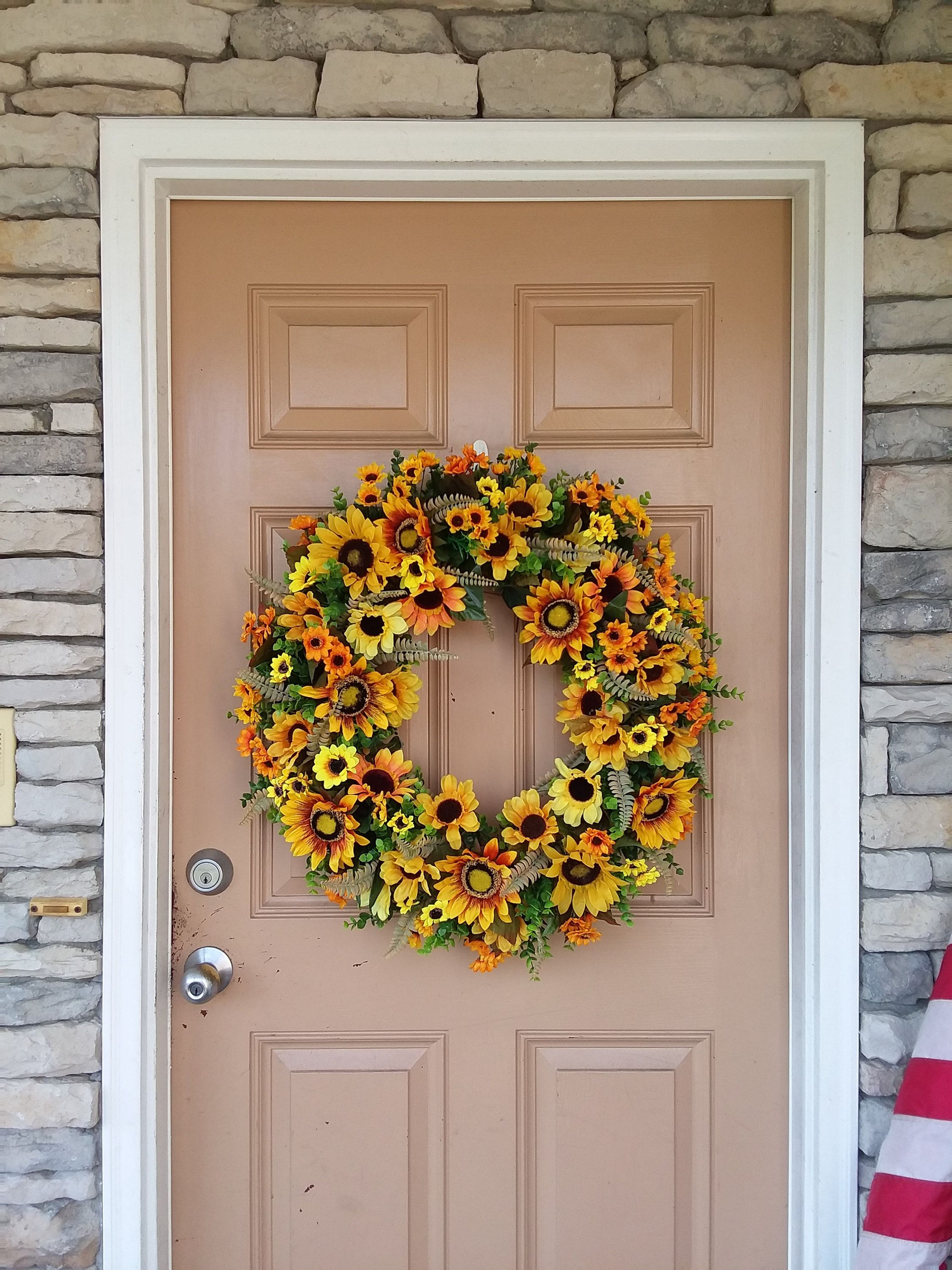Sunflower Front Door Wreath Fall Front Door Wreath