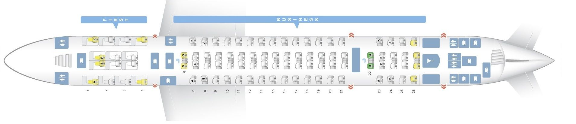 Seat Map And Seating Chart Airbus A380 800 Emirates Three Class V1 Upper Deck Emirates Fleet Emirates Airbus Seating Plan