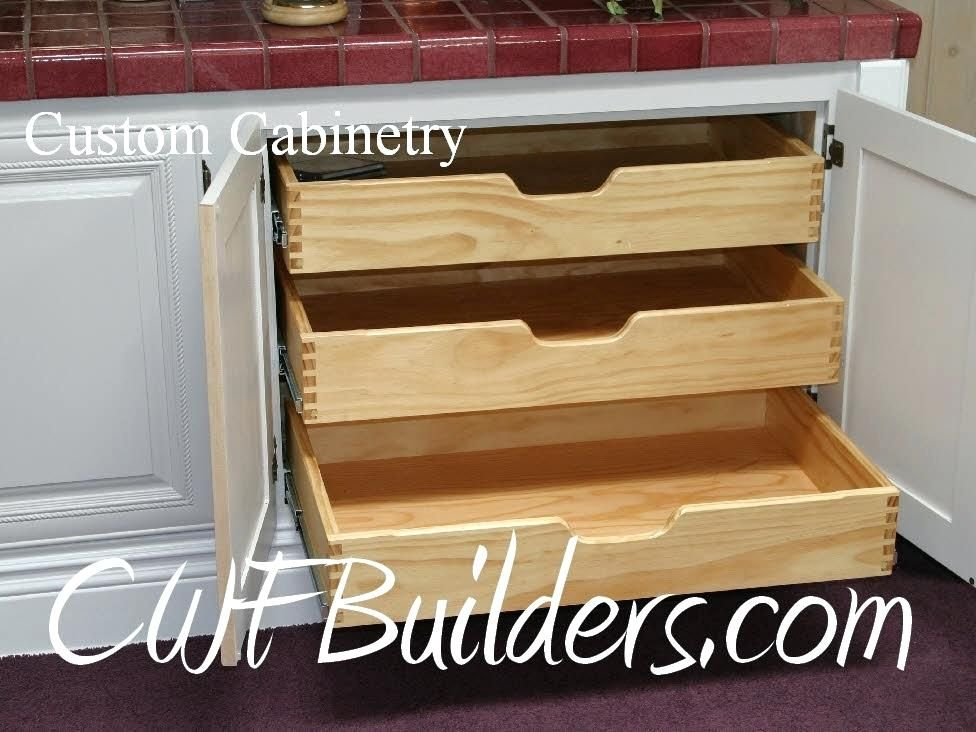 Inside Cabinet Drawers Pull Out Shelves Woodworking Storage