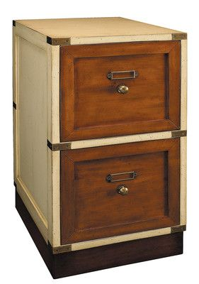 Nautical Campaign Style Files Filing Cabinet Ivory Authentic Models