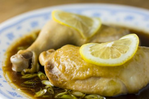 Chinese steamed lemon chicken ling mung jing gai asian food chinese steamed lemon chicken someone elses family recipe forumfinder Images
