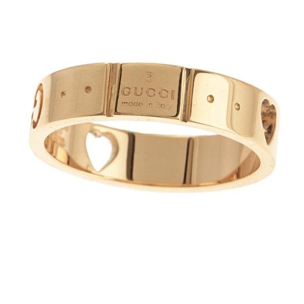Yellow gold ring GUCCI 20 410 UAH ❤ liked on Polyvore featuring