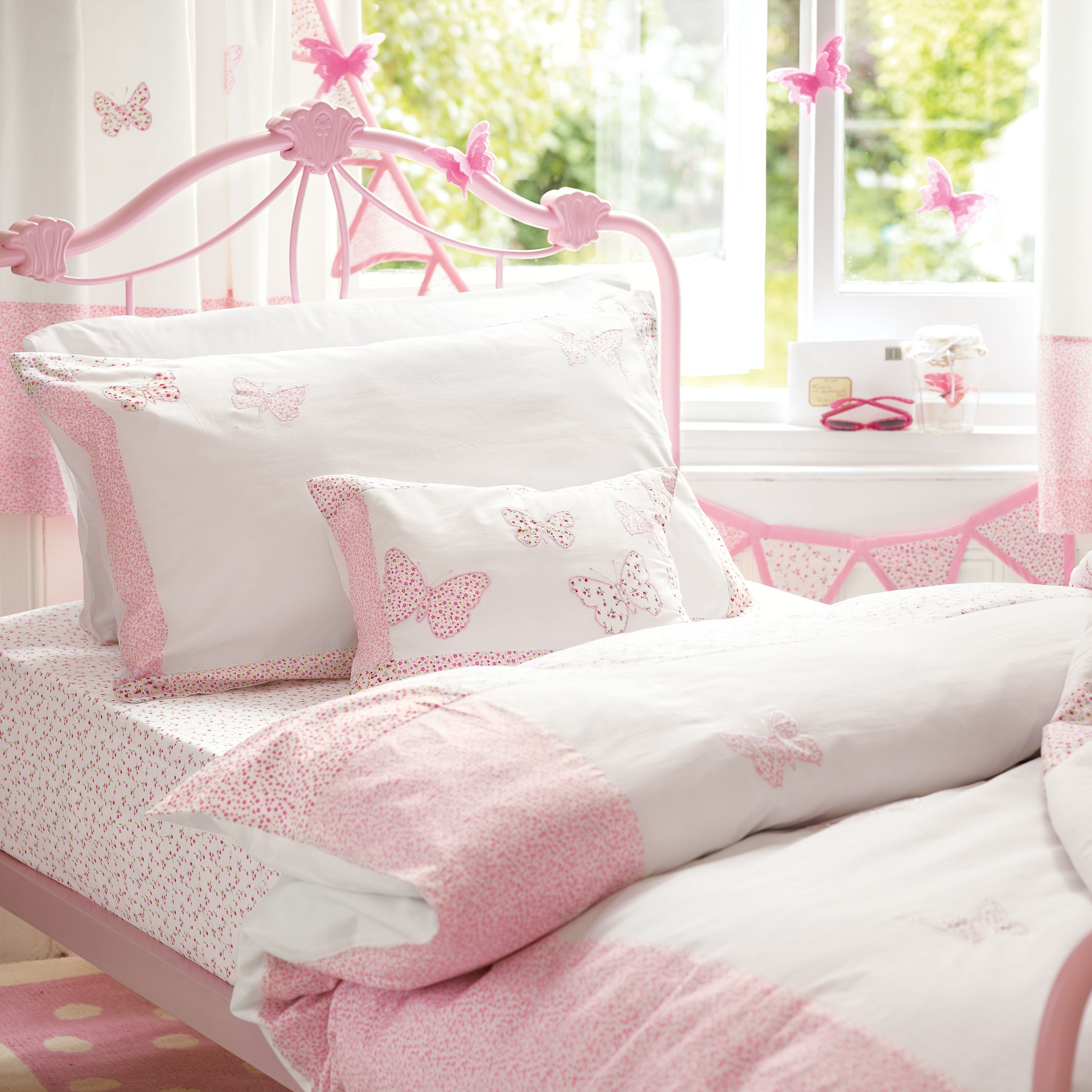 Bella Erfly Pink Cotton Duvet Set Laura Ashley