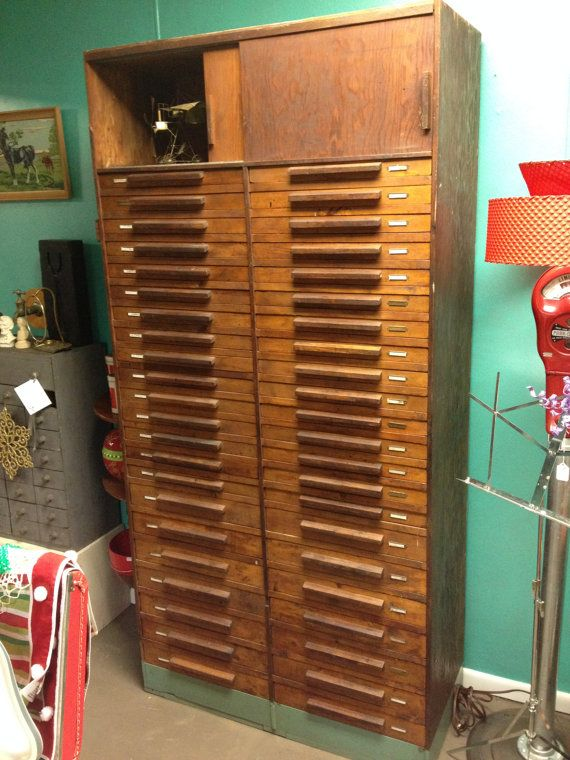 Vintage machinist cabinet with 44 drawers solid wood by AlysPicks ...