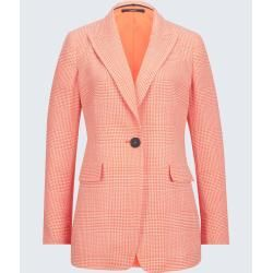 Photo of Glencheck-Long-Blazer in Orange-Weiß windsor