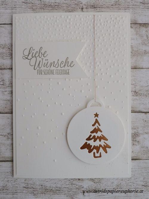stampin up weihnachten froehliche anhaenger leise rieselt
