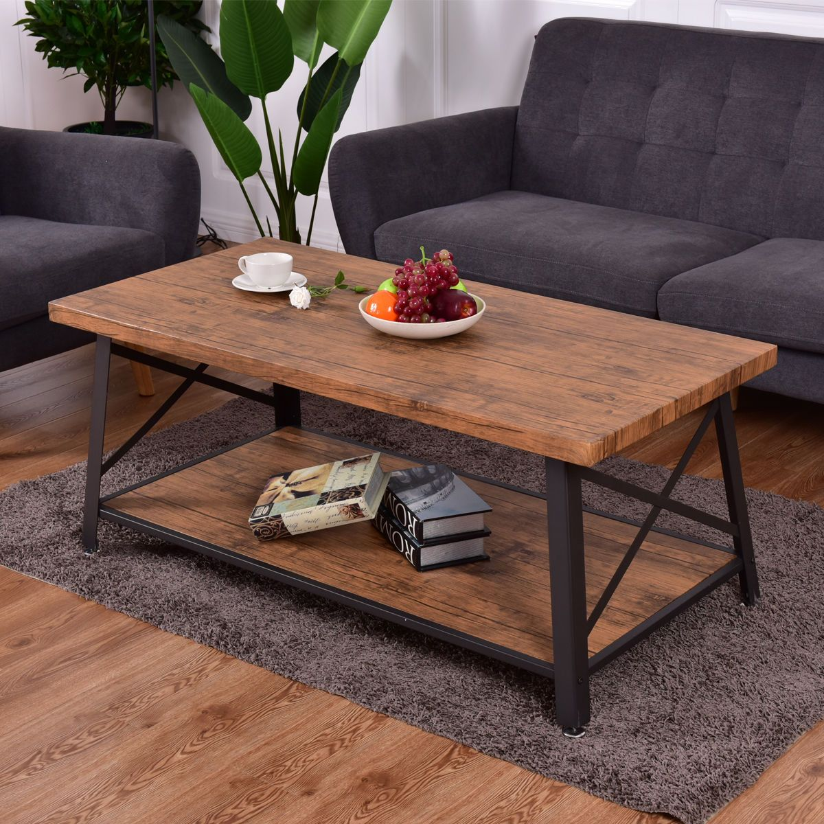 wood coffee table cocktail sofa side table rectangle metal on stunning wooden metal coffee table id=59544