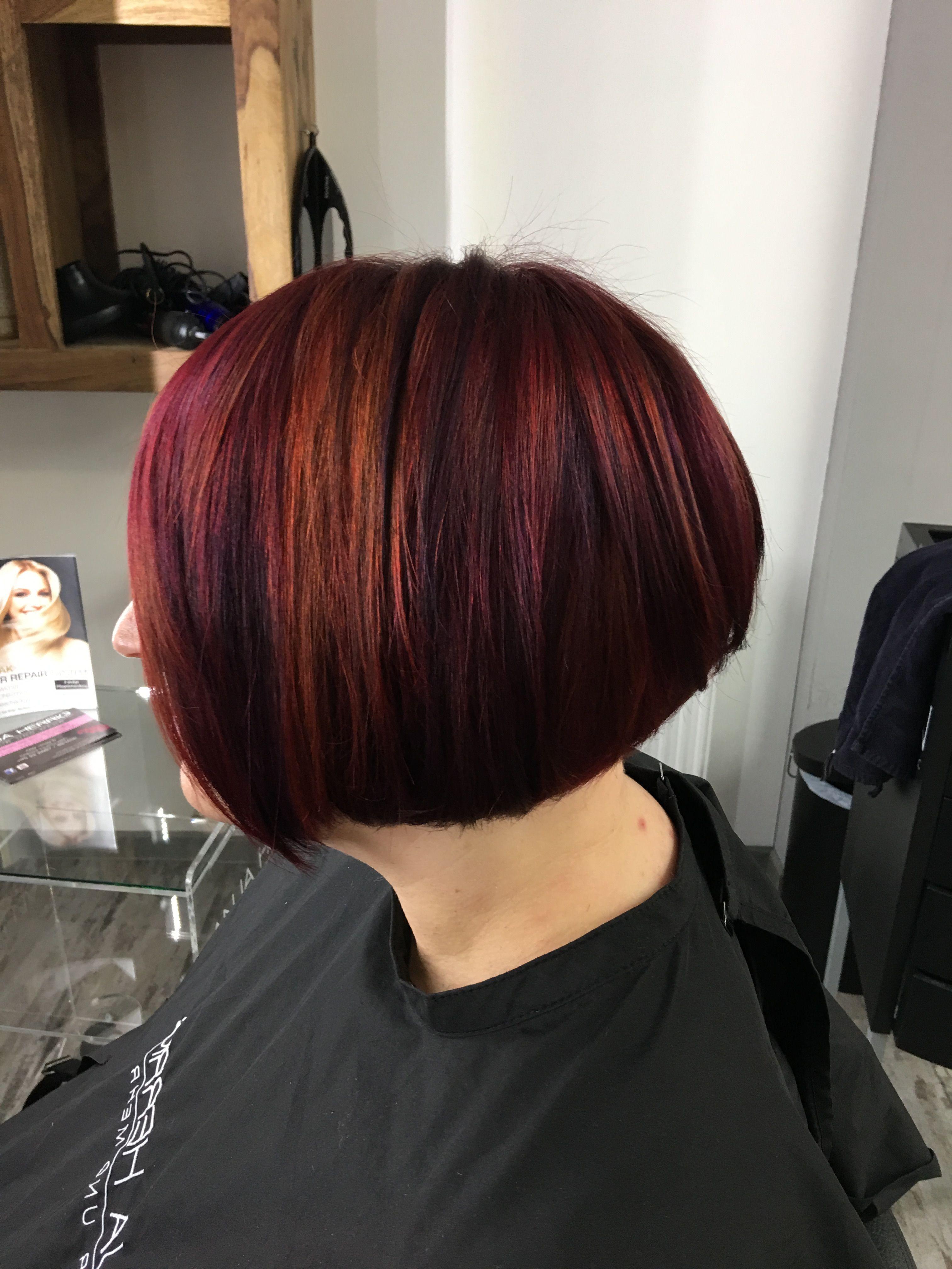 Anja Herrig Hair und mehr Bob Red Violet Frisur