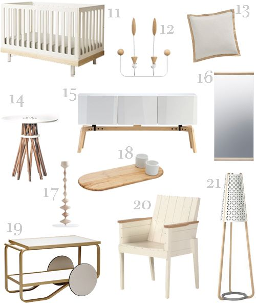 White And Wood Furniture Accessories