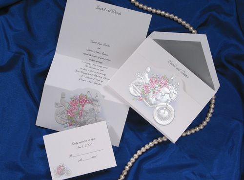 Harley Davidson Motorcycle Wedding Invitations by The Purple