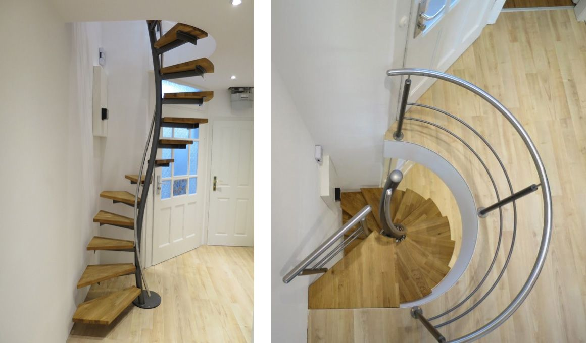 spindeltreppen ab 1 qm grundriss von oberb rsch design treppen pinterest dachboden treppe. Black Bedroom Furniture Sets. Home Design Ideas
