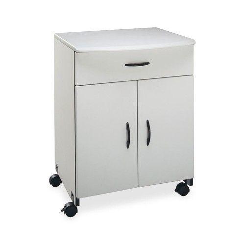 Elegant Printer Stand with Storage Cabinet