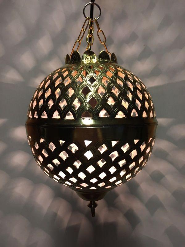 marokkanische h ngelampe safiye goldfarbig klein aus messing deckenlampen h ngeleuchten. Black Bedroom Furniture Sets. Home Design Ideas