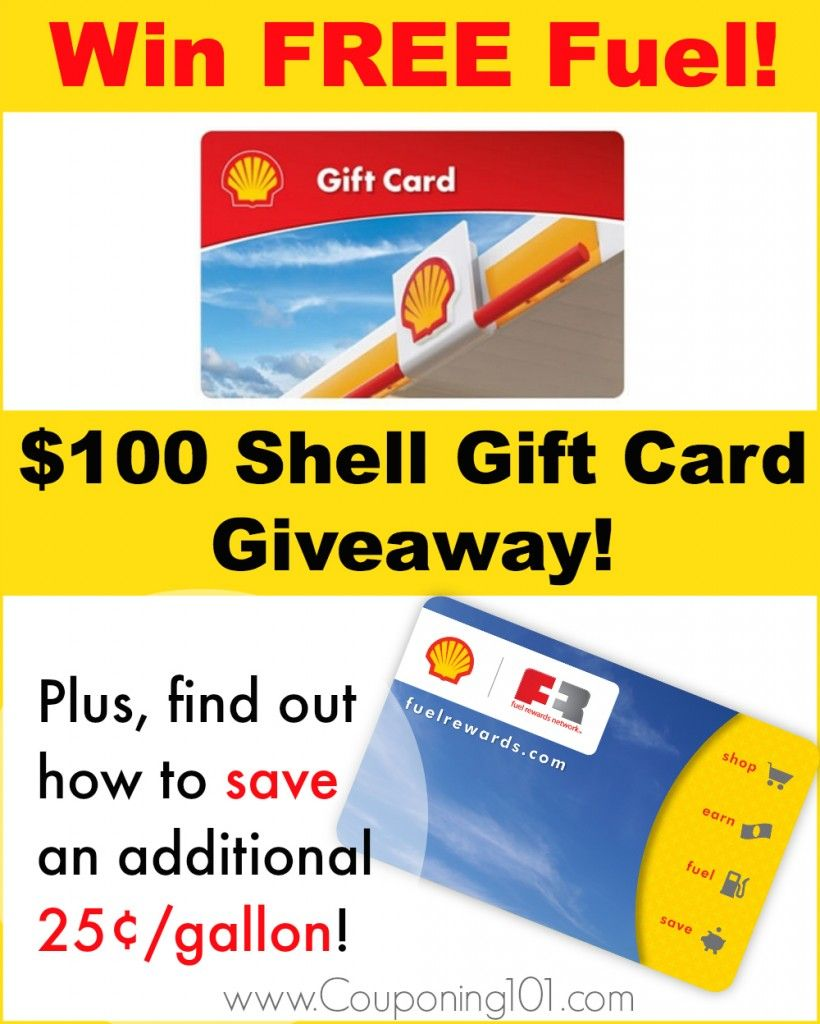 100 shell gift card giveaway couponing 101 shell