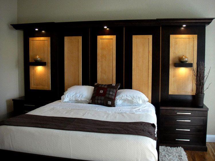 16 Wonderful Wall Unit Headboards Photograph Ideas Bedroom Wall