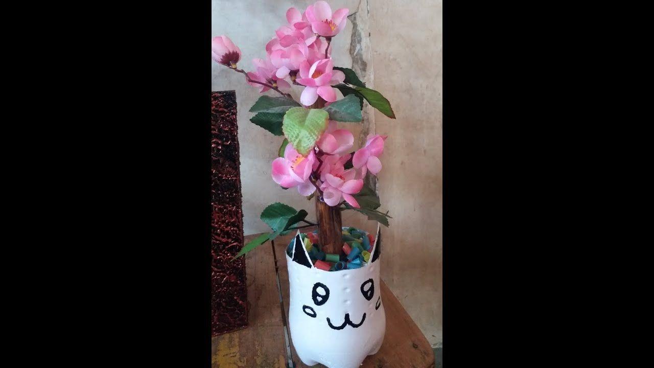 Tutorial Pot Bunga Dari Botol Bekas Unik Cantikbayangkan Berapa Banyak Sampah Disekitar Kita Dalam Sehari Selagi Masih Bisa Di D Pot Bunga Bunga Kreatif