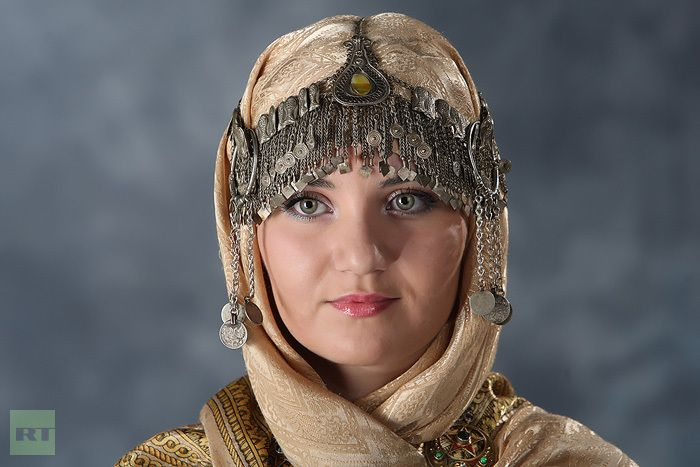 part of a dagestani woman s national wedding costume
