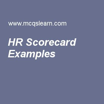 HR Scorecard Examples Human Resource Management Pinterest - resume quiz