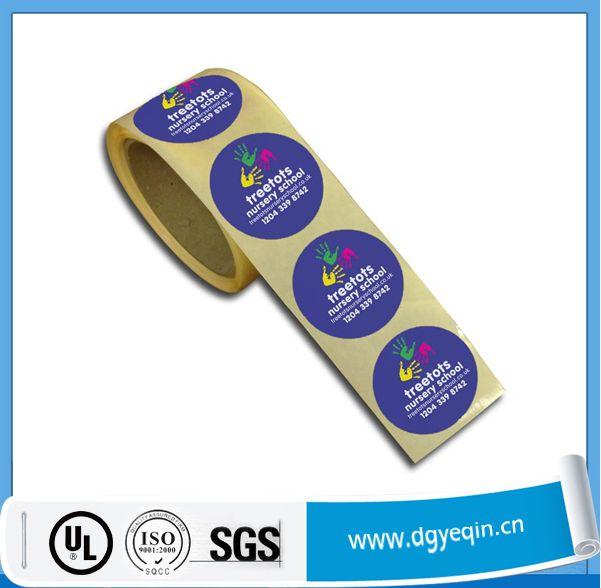 Custom made adhesive label sticker roll