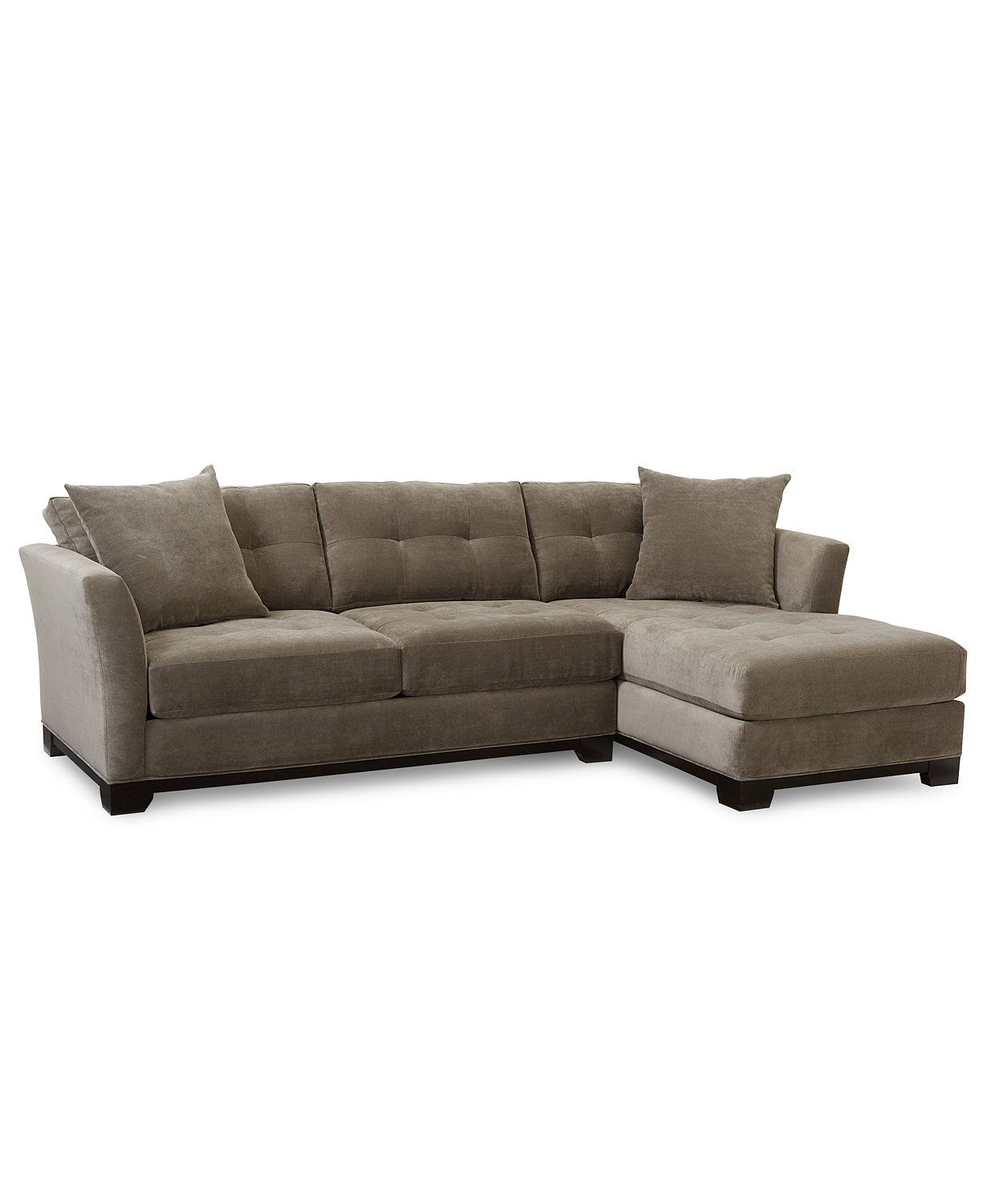 closeout elliot fabric microfiber 2 pc chaise sectional sofa rh pinterest co uk