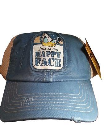 Disney Hat - Baseball Cap - Donald Duck - This is my Happy Face ... 9922ebb53db