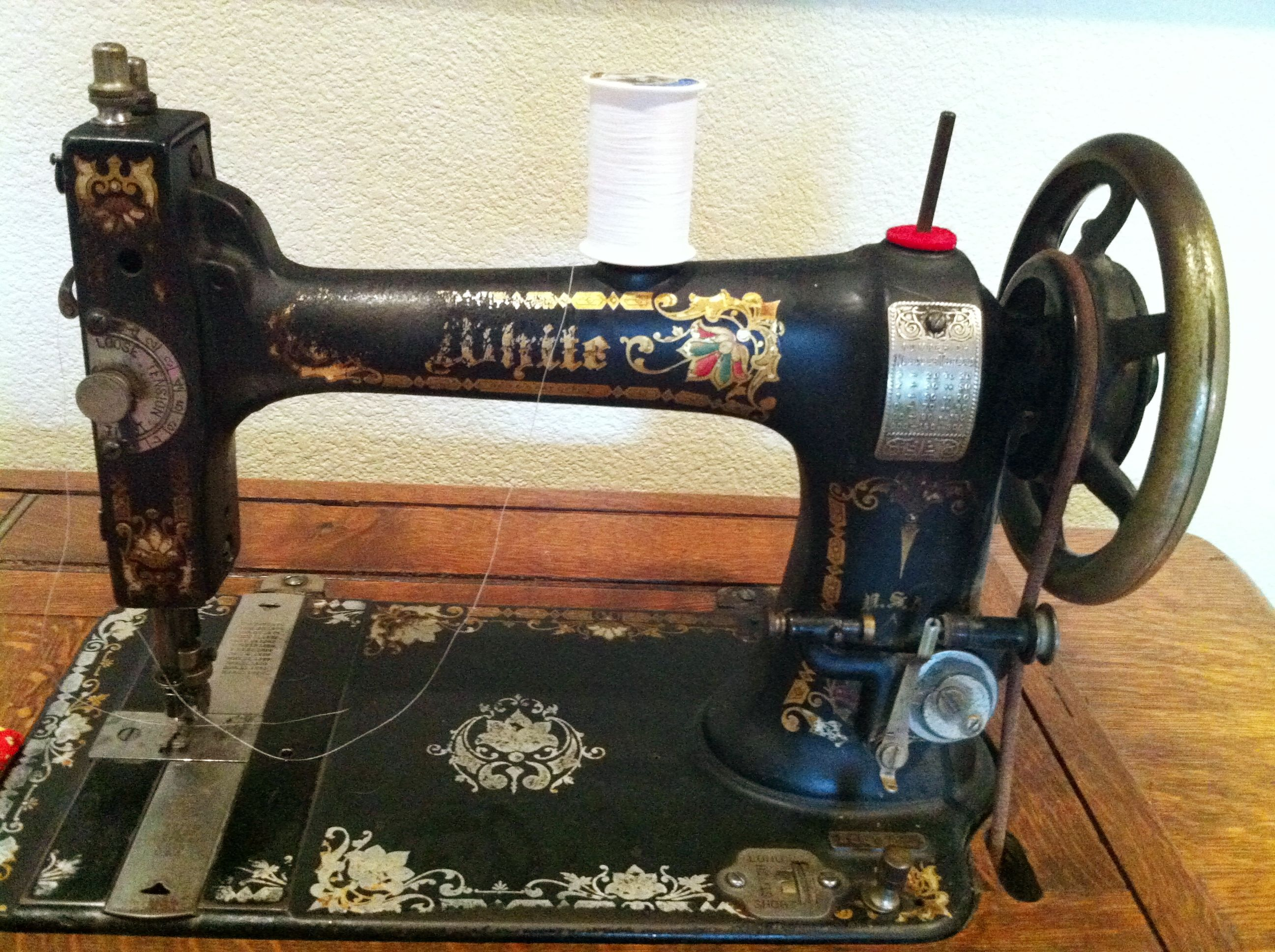 Instruction manual for late 1800's White treadle machine