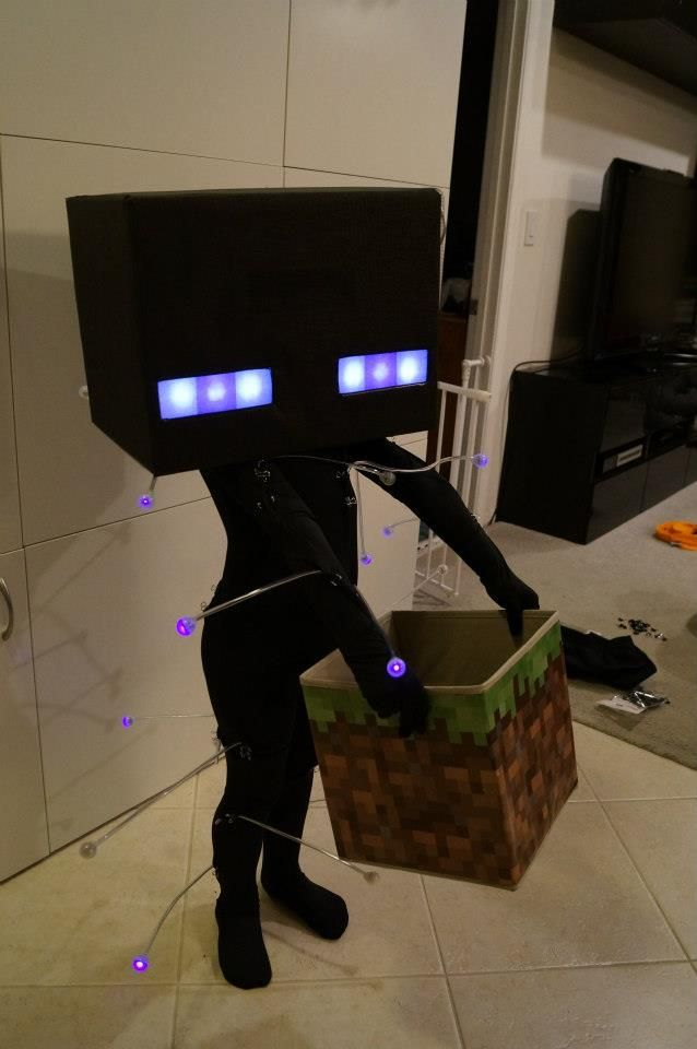 Glowing Enderman Costume Minecraft Costumes Minecraft