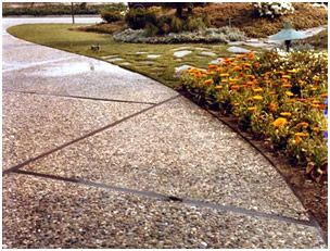 Charmant Exposed Aggregate Patio