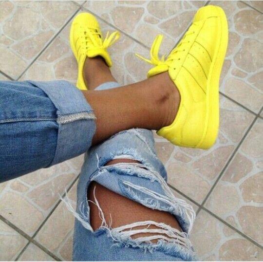 Neon Yellow Adidas | Adidas shoes women
