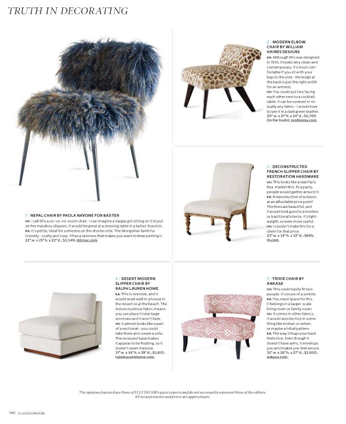 Slipper Chair Elle Decor Chair Elegant Home Decor Furniture Styles