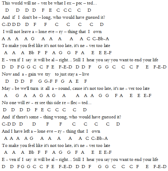 Three Days Grace Never Too Late Sheet Music For Cello Pinterest