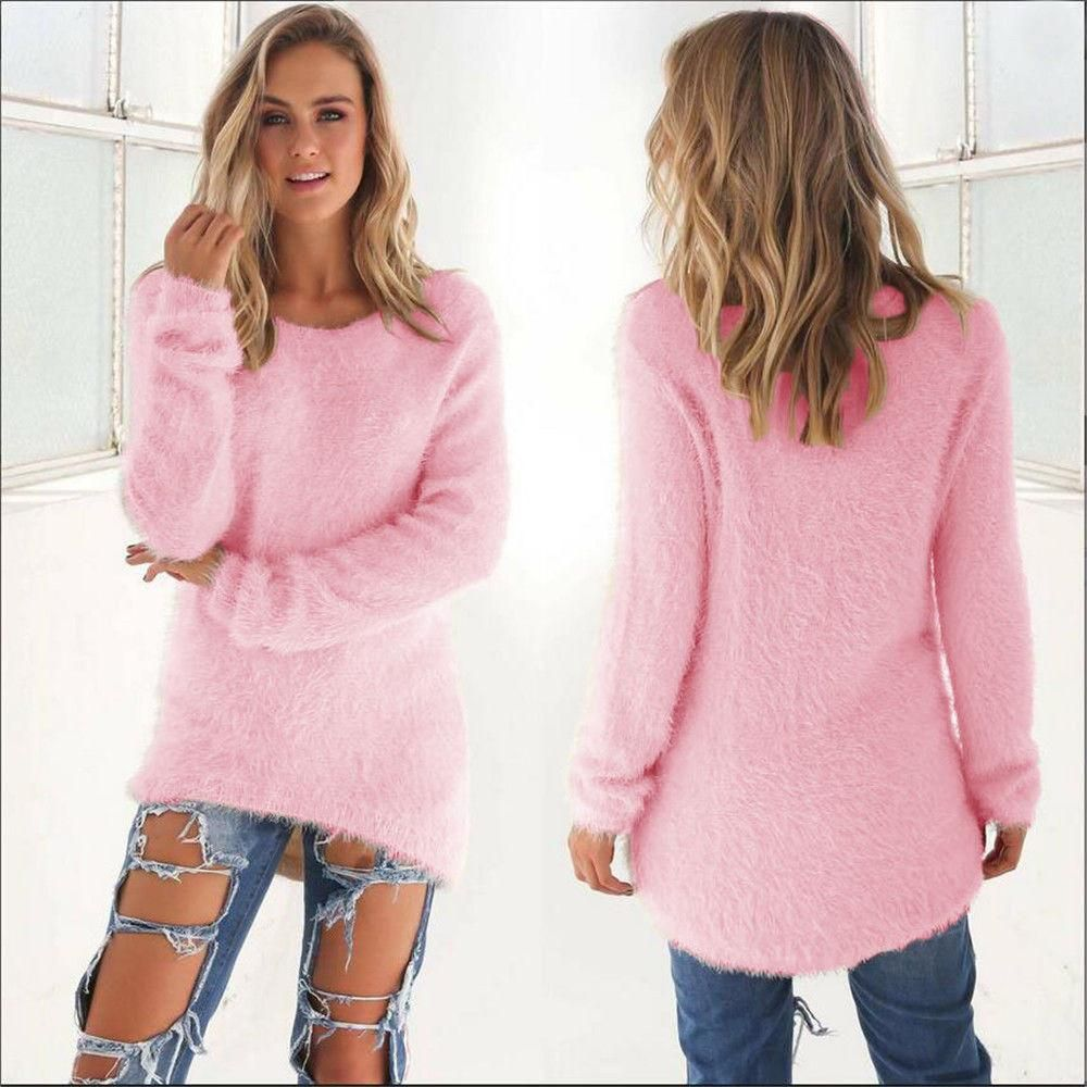 2016 Autumn Winter Sweater Women Pullovers Knitted Casual Cashmere ...