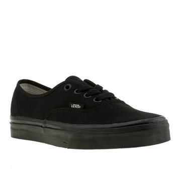 vans authentic womens black