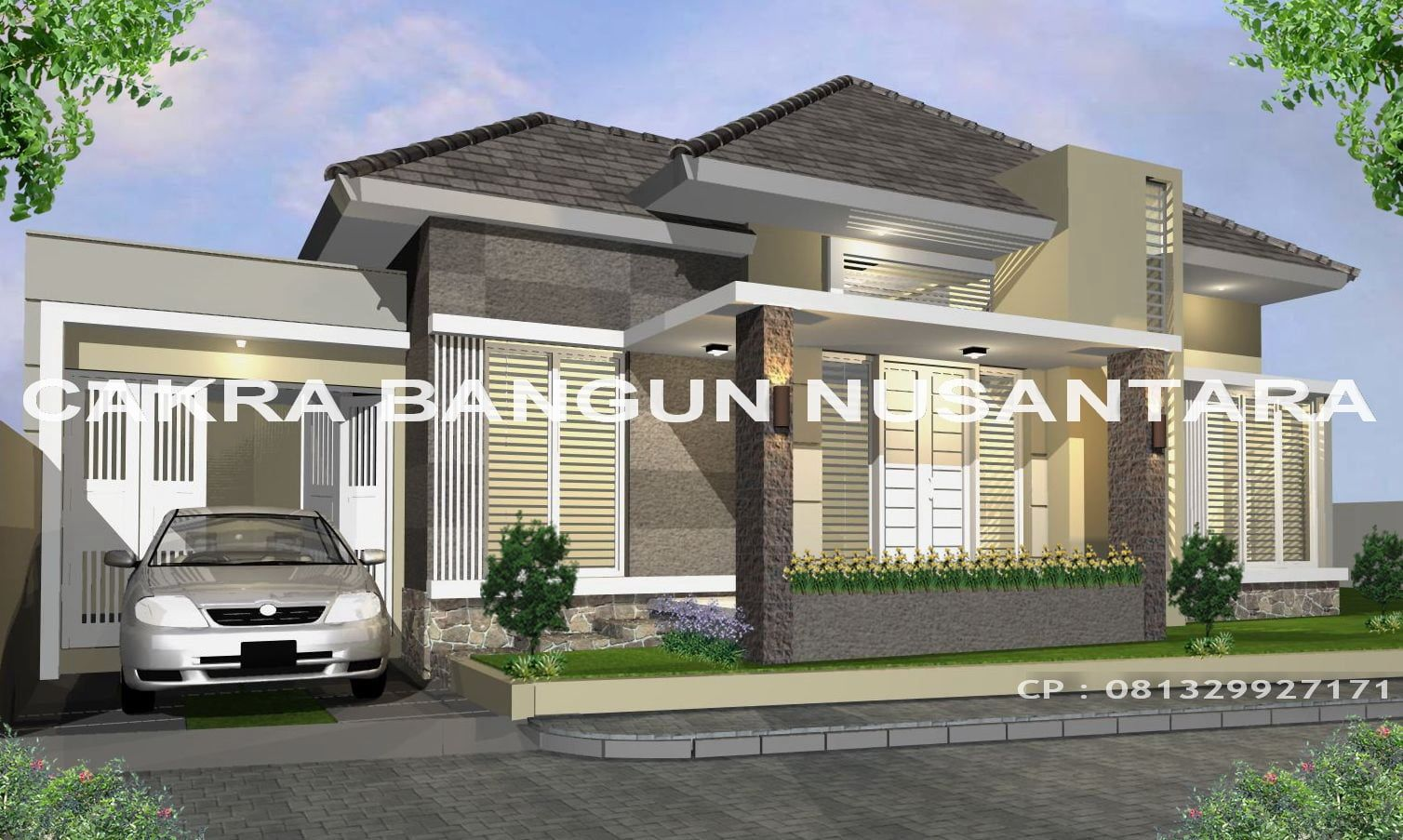 Desain Rumah Klasik Modern 1 Lantai Cek Bahan Bangunan