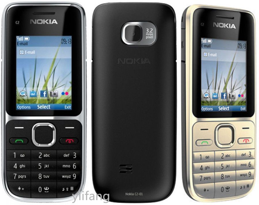 Details About New Nokia C Series C2 01 Black Gold Unlocked English Hebrew Keyboard Bar Phone Smartphones For Sale Nokia Smartphone