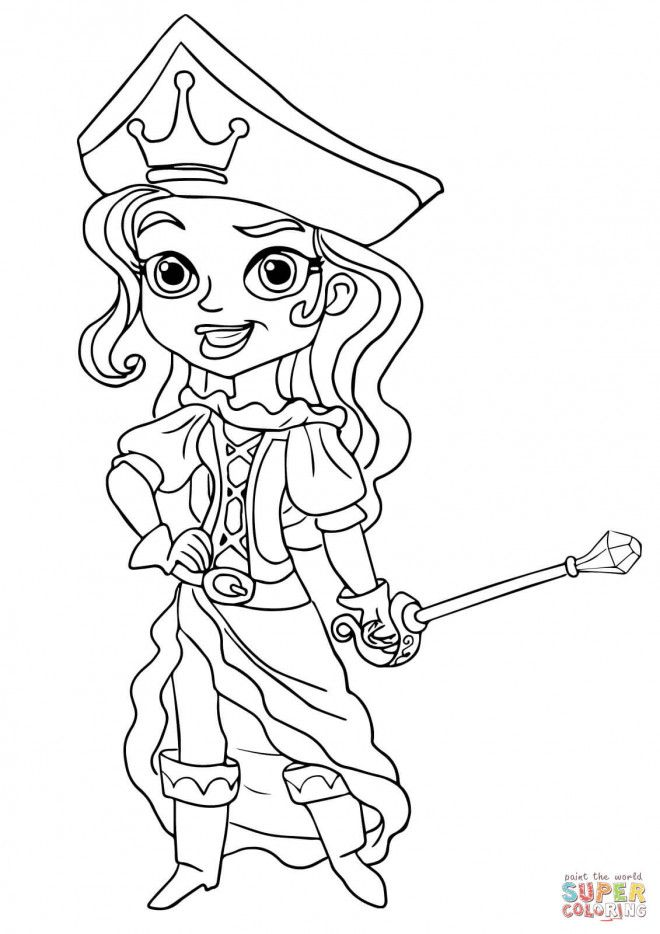 Coloriage Pirate Fille