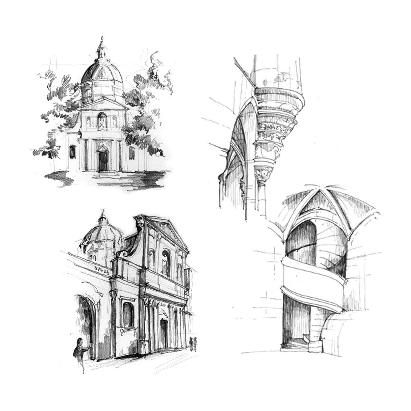 Paris Architecture Sketch