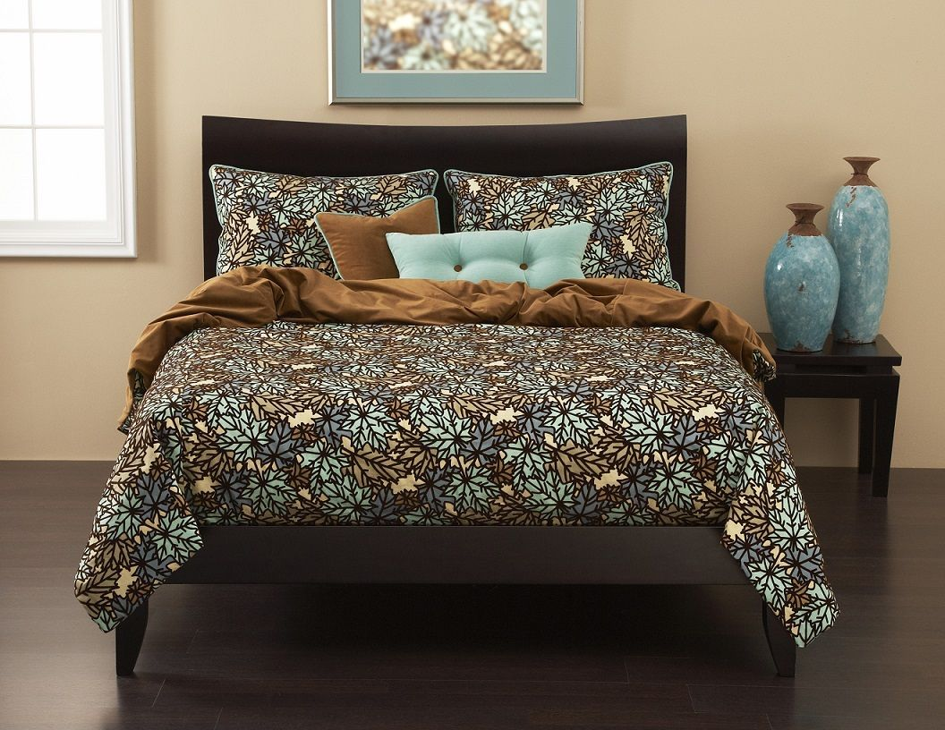 Pressed Leaf in Spa Premium Bedding Collection Sets by SIS Covers