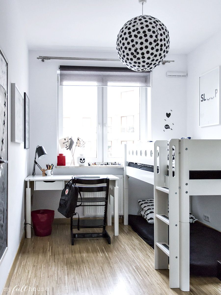At Home With Kasia Of My Full House Cool Boys Room Scandinavian Kids Rooms Shared Girls Room