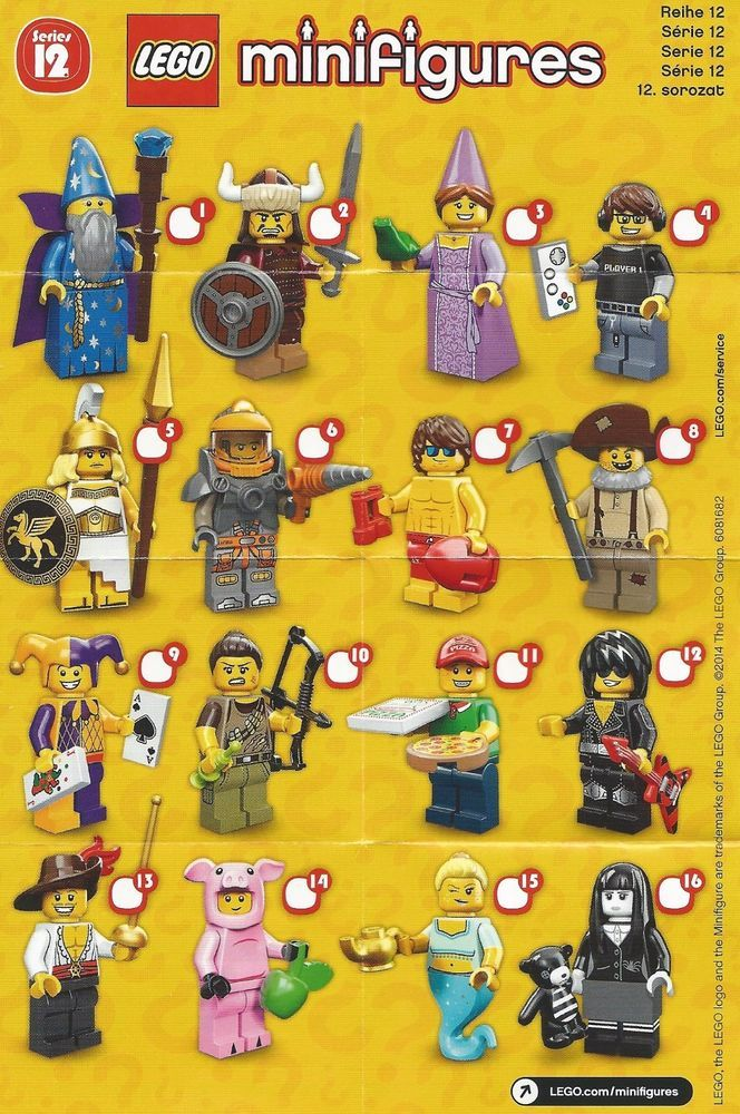 Lego Minifigures Series 12 Gamer New /& Sealed in Pack 71007