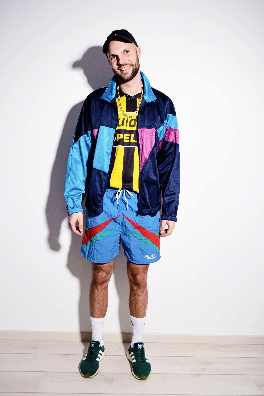 80s vintage multi colour crazy shell tracksuit top jacket