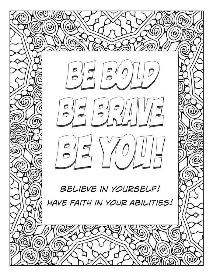 Word Art Coloring Page Typography Art Inspirational Motivational Art Kaleidocope Art Quote Pictures Colouring Art Therapy Word Art Coloring Pages
