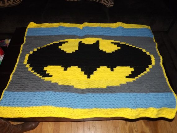 Batman Baby Afghan - PATTERN ONLY | Projects to Try | Pinterest ...