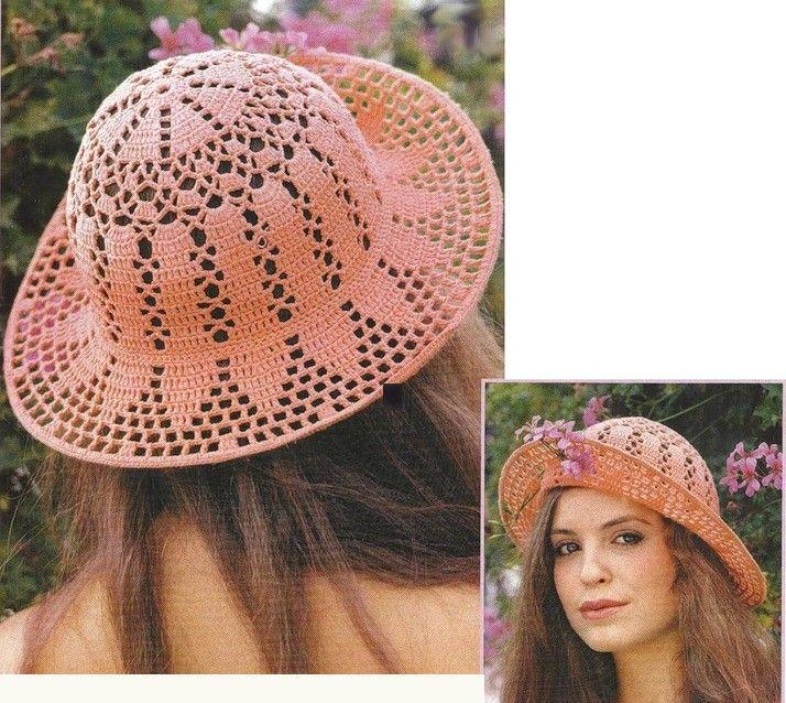 10 Maravillosos Patrones de Sombreros de Ganchillo   Flor ...