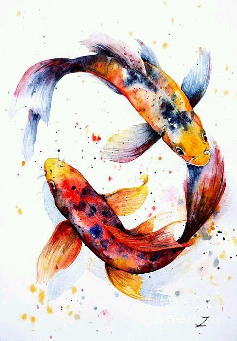 De Toutes Les Couleurs Photo Art Koi Peinture Koi Peintures