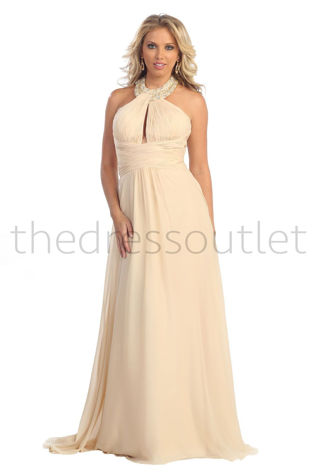 Halter top wedding dresses plus size  Halter Top Long Plus Size Evening Formal Gown Groom  Products